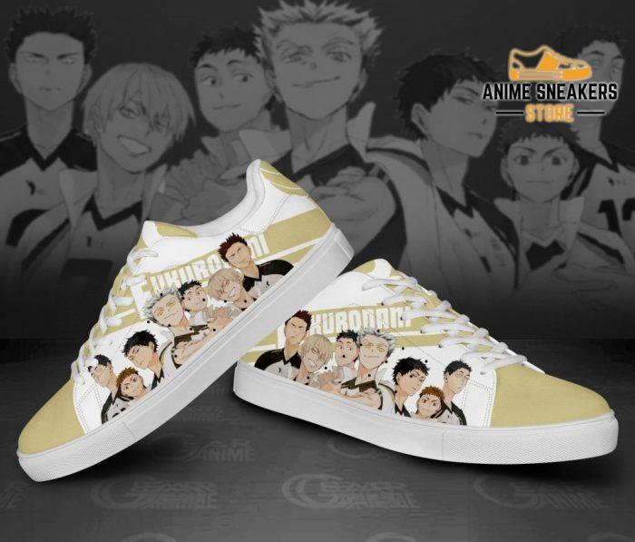 Haikyu Fukurodani Skate Shoes Black Haikyu!! Custom Anime