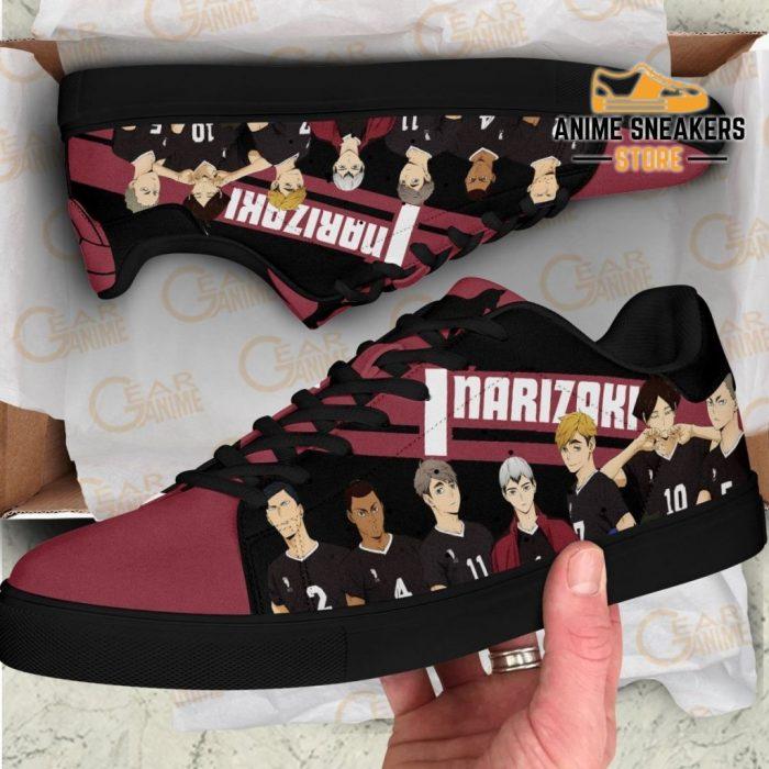 Haikyu Inarizaki Skate Shoes Black Haikyu!! Custom Anime