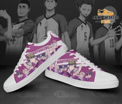 Haikyu Shiratorizawa Skate Shoes Black Haikyu!! Custom Anime