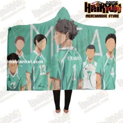 Haikyuu Aoba Johsai High Hooded Blanket Adult / Premium Sherpa - Aop
