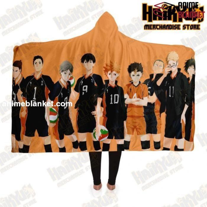 Haikyuu Karasuno High School Hooded Blanket New Design No.2 Adult / Premium Sherpa - Aop