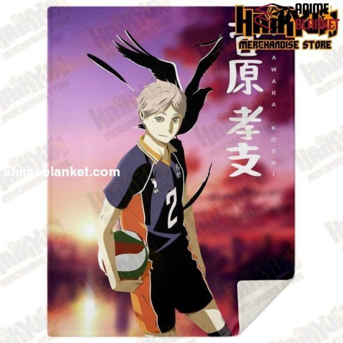 Haikyuu Number.02 Karusano High Premium Microfleece Blanket Style M - Aop