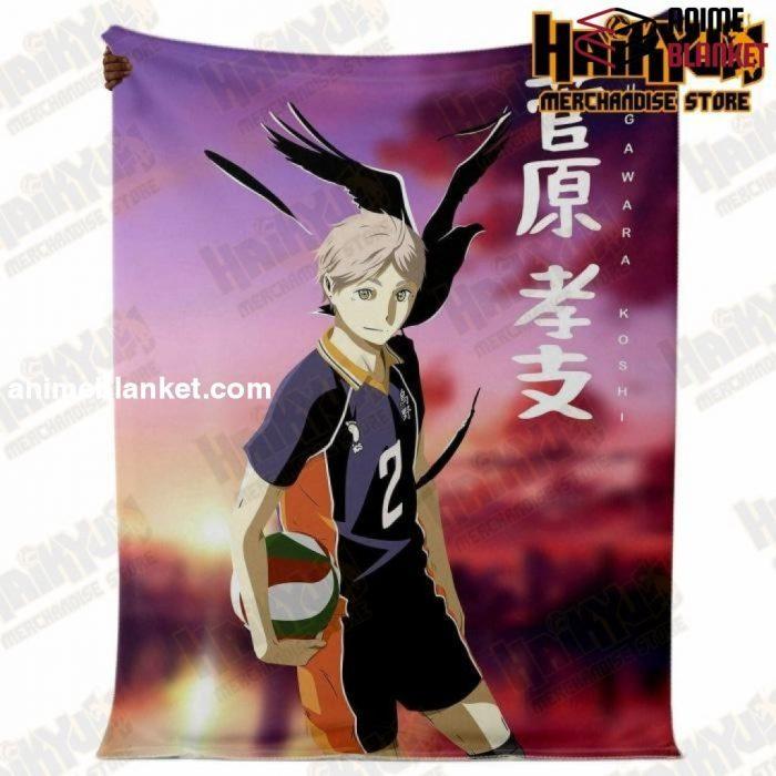 Haikyuu Number.02 Karusano High Premium Microfleece Blanket Style - Aop