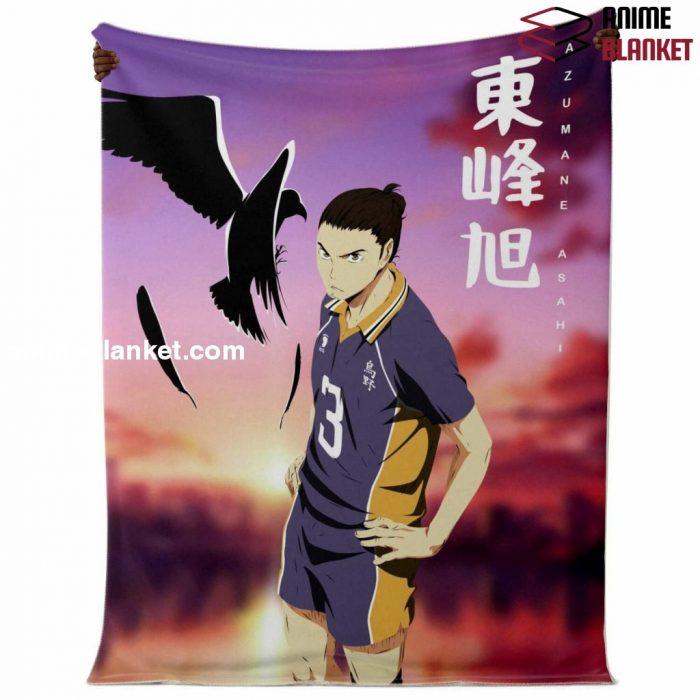 Haikyuu Number.03 Karusano High Blanket Style Premium Microfleece - Aop