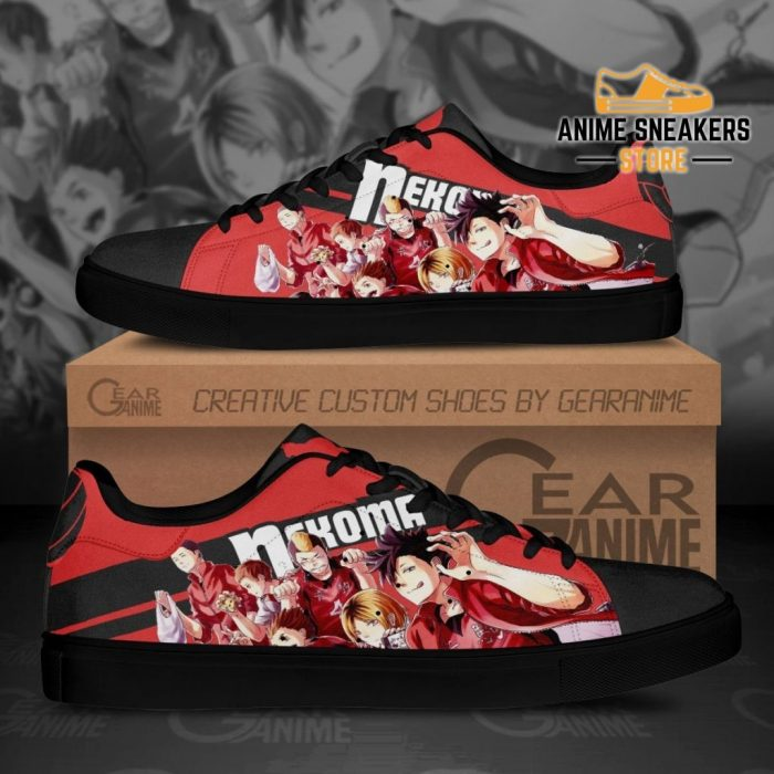 Haikyu Nekoma Skate Shoes Black Haikyu!! Custom Anime Men / Us6
