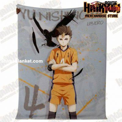 Haikyuu Yu Nishinoya Premium Microfleece Blanket - Aop