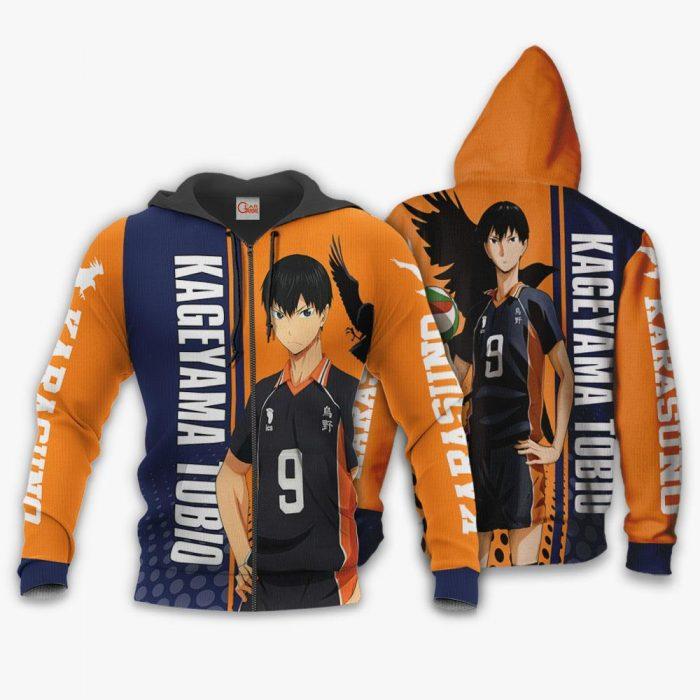 Karasuno Kageyama Tobio Hoodie Haikyuu Custom Anime Shirt Zip Hoodie / S Official Haikyuu Merch