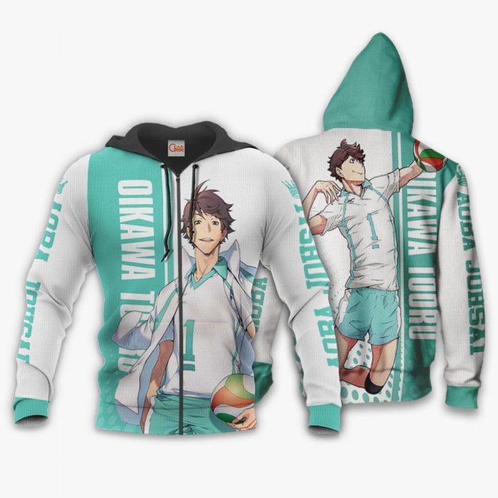 Aoba Johsai Oikawa Tooru Hoodie Haikyuu Custom Anime Shirt Zip Hoodie / S Official Haikyuu Merch