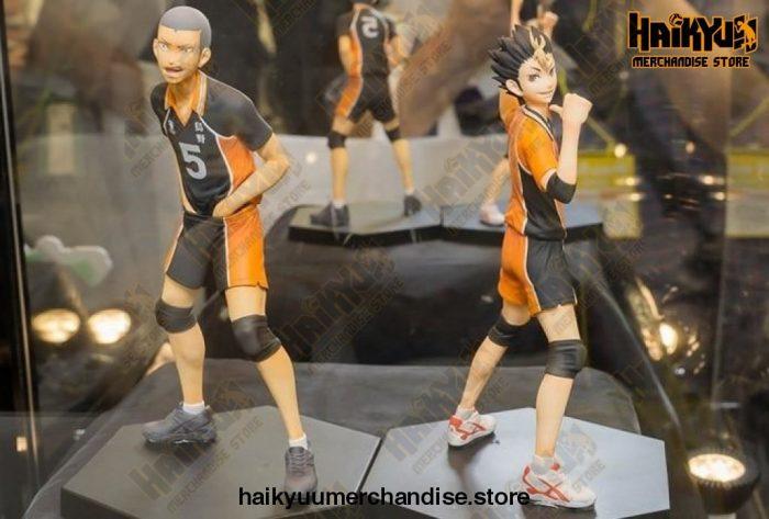 14Cm Haikyuu!! Tanaka Ryunosuke - Nishinoya Yuu Volleyball Pvc Action Figure