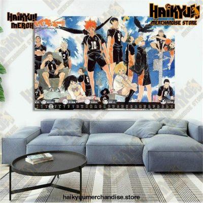 Haikyuu Wall Art  Karasuno Team 13x18cm  No Frame Official Haikyuu Canvas Merch