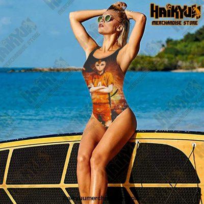 2021 Haikyuu Sexy Cross Back Swimwear Women Swimsuit Vintage Bathing Suits