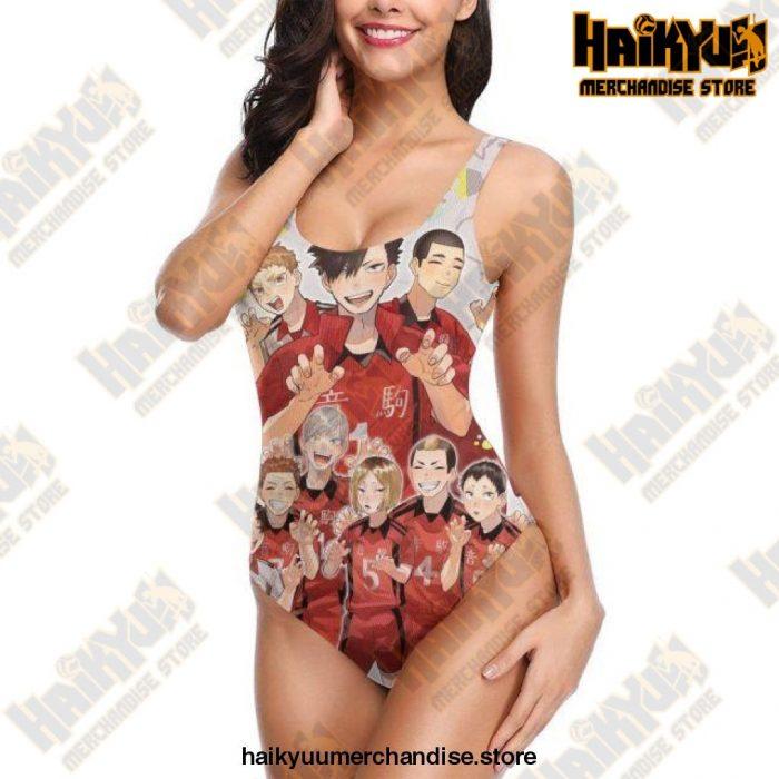 2021 Haikyuu Sexy Cross Back Swimwear Women Swimsuit Vintage Bathing Suits Design 6 / S