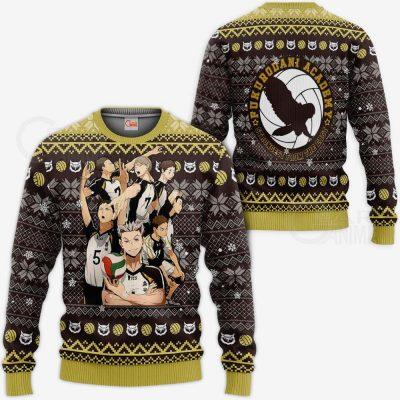 Fukurodani Academy Ugly Christmas Sweater Haikyuu Anime Xmas VA10 Sweater / S Official Haikyuu Merch