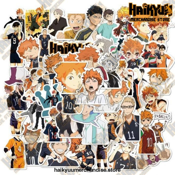 50Pcs Anime Haikyuu!! Stickers 50 Haikyuu A
