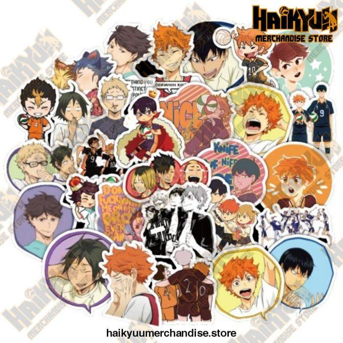 50Pcs Anime Haikyuu!! Stickers 50 Haikyuu B