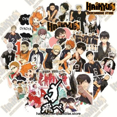 50Pcs Anime Haikyuu!! Stickers 50 Haikyuu C