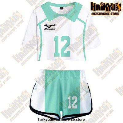 Aoba Johsai High Cosplay Sportswear Jerseys Uniform 12 / S