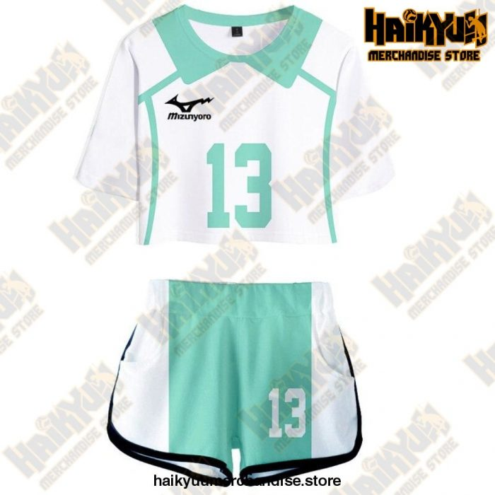 Aoba Johsai High Cosplay Sportswear Jerseys Uniform 13 / S