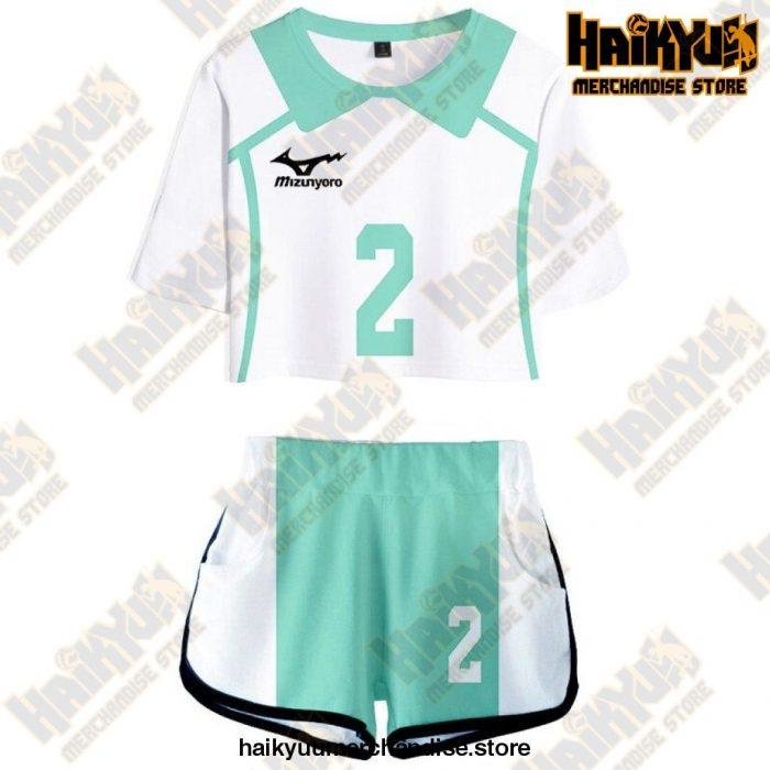 Aoba Johsai High Cosplay Sportswear Jerseys Uniform 2 / S