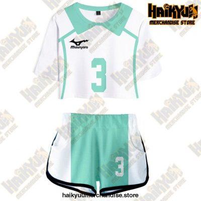 Aoba Johsai High Cosplay Sportswear Jerseys Uniform 3 / S