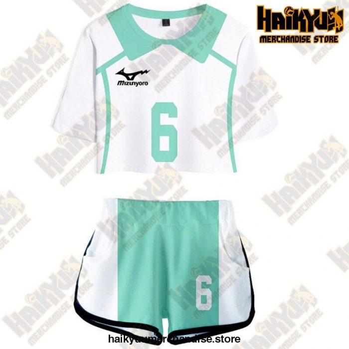 Aoba Johsai High Cosplay Sportswear Jerseys Uniform 6 / S
