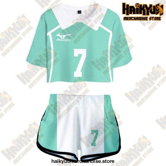 Aoba Johsai High Cosplay Sportswear Jerseys Uniform 7 / S