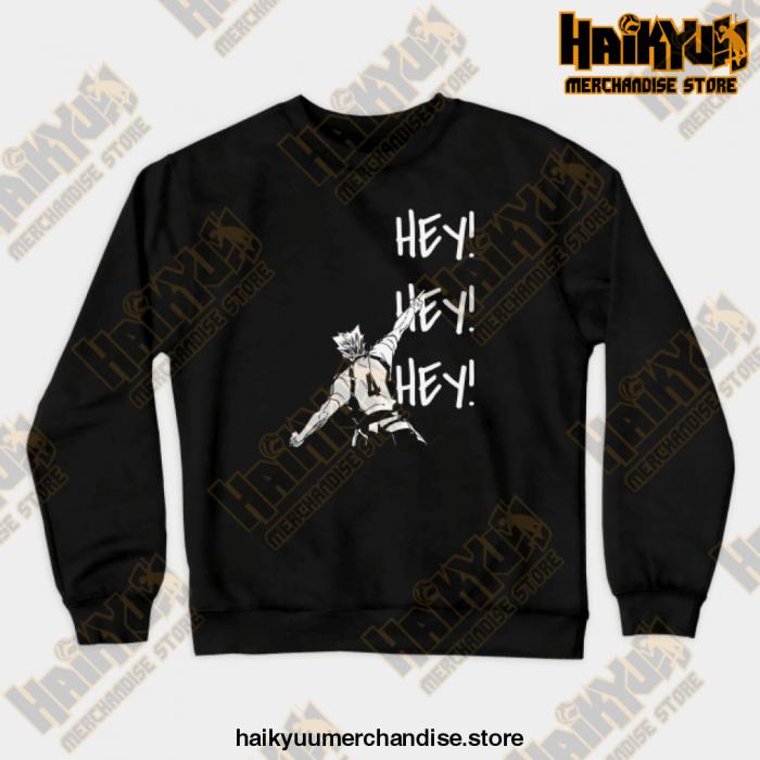Bokuto Ace Haikyuu Crewneck Sweatshirt Black / S