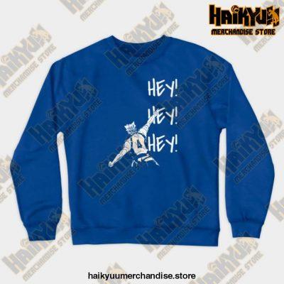 Bokuto Ace Haikyuu Crewneck Sweatshirt Blue / S