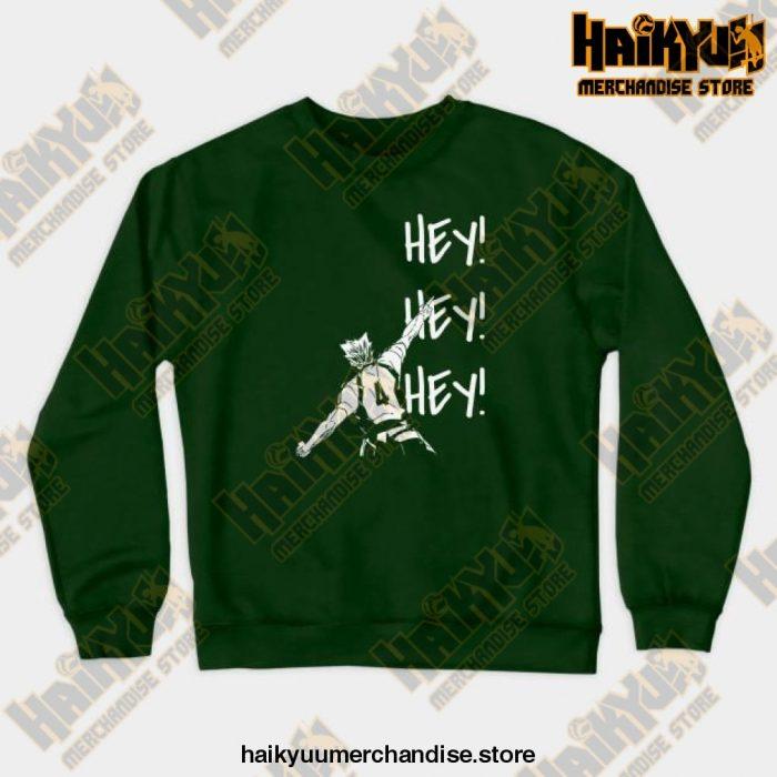Bokuto Ace Haikyuu Crewneck Sweatshirt Green / S