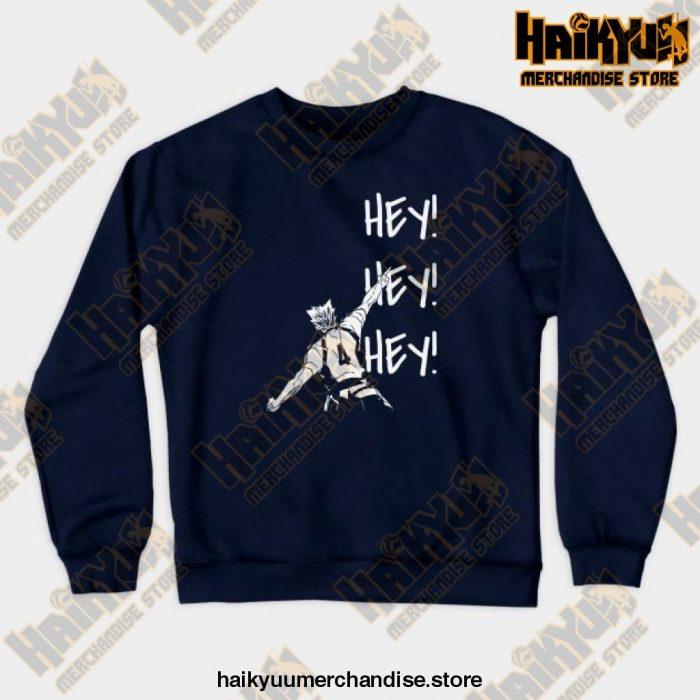 Bokuto Ace Haikyuu Crewneck Sweatshirt Navy Blue / S