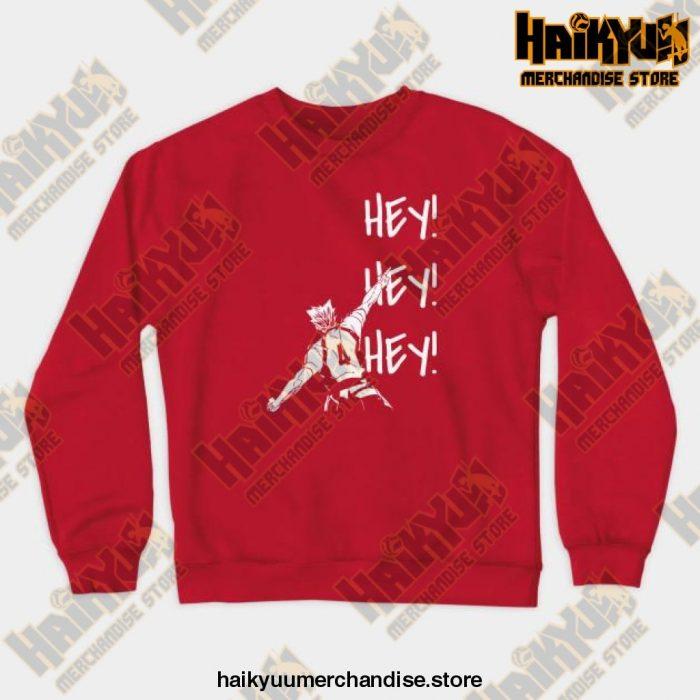 Bokuto Ace Haikyuu Crewneck Sweatshirt Red / S