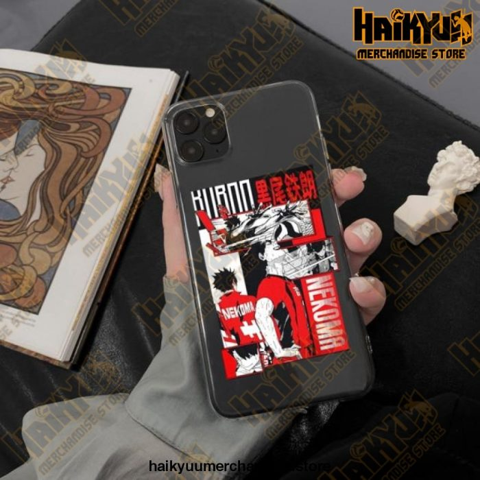 Cool Haikyuu Anime Clear Phone Case Style 1 / For Iphone 11