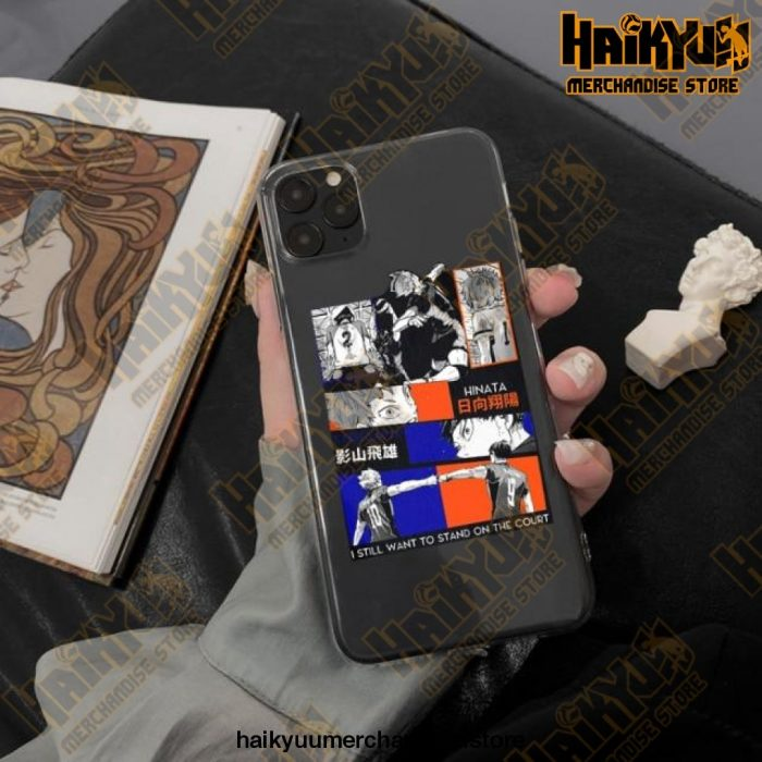 Cool Haikyuu Anime Clear Phone Case Style 3 / For Iphone 11