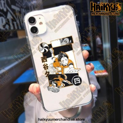 Cool Haikyuu Anime Clear Phone Case Style 4 / For Iphone 11