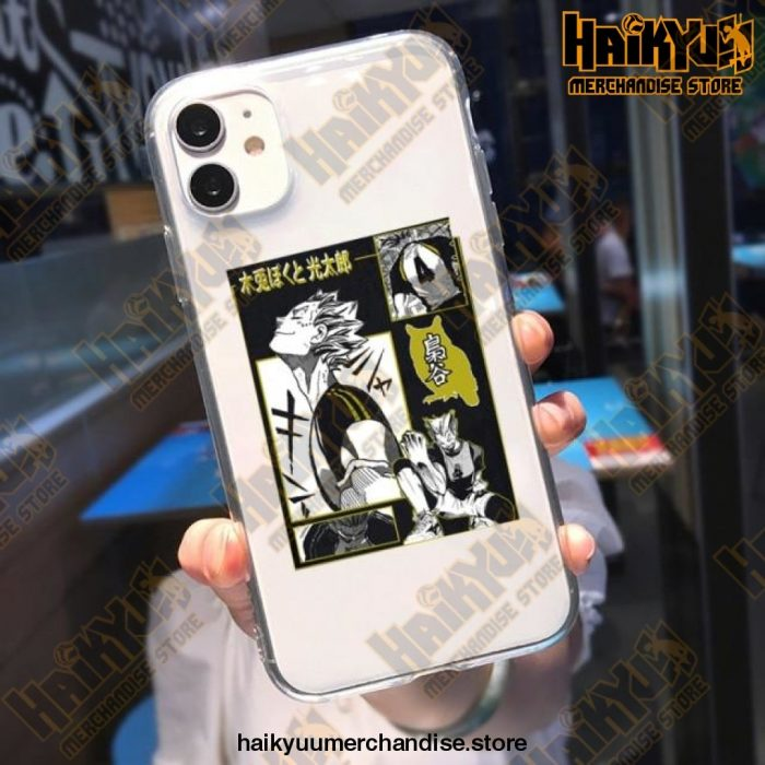 Cool Haikyuu Anime Clear Phone Case Style 5 / For Iphone Xr