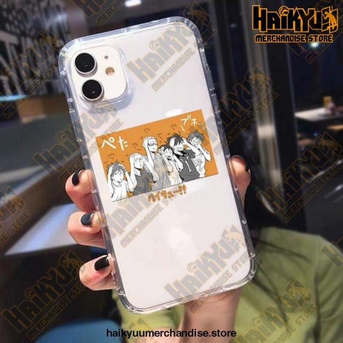 Cute Anime Oya Haikyuu Phone Case For Iphone X / Style 4