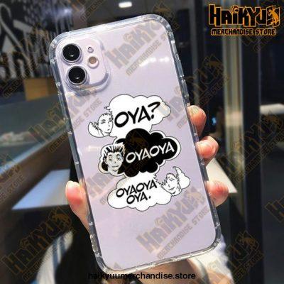 Cute Anime Oya Haikyuu Phone Case For Iphone Xs / Style 1