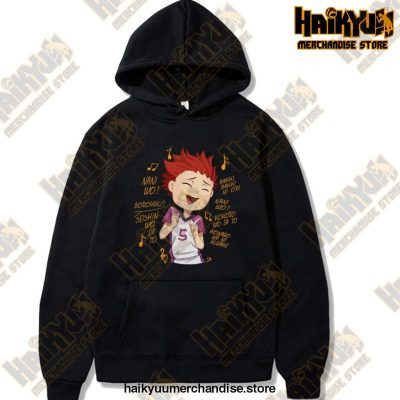 Funny Haikyuu Satori Tendou Hoodie Men Cotton Anime Manga Shirts Volleyball Tee Tops Long Sleeved