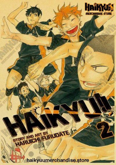 Haikyuu 2021 Retro Poster Kraft Paper 42X30 Cm / Q015 19