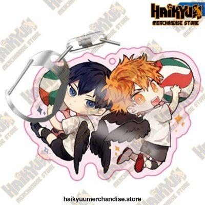 Haikyuu! Anime Acrylic Rubber Keychain H01