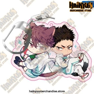 Haikyuu! Anime Acrylic Rubber Keychain H03
