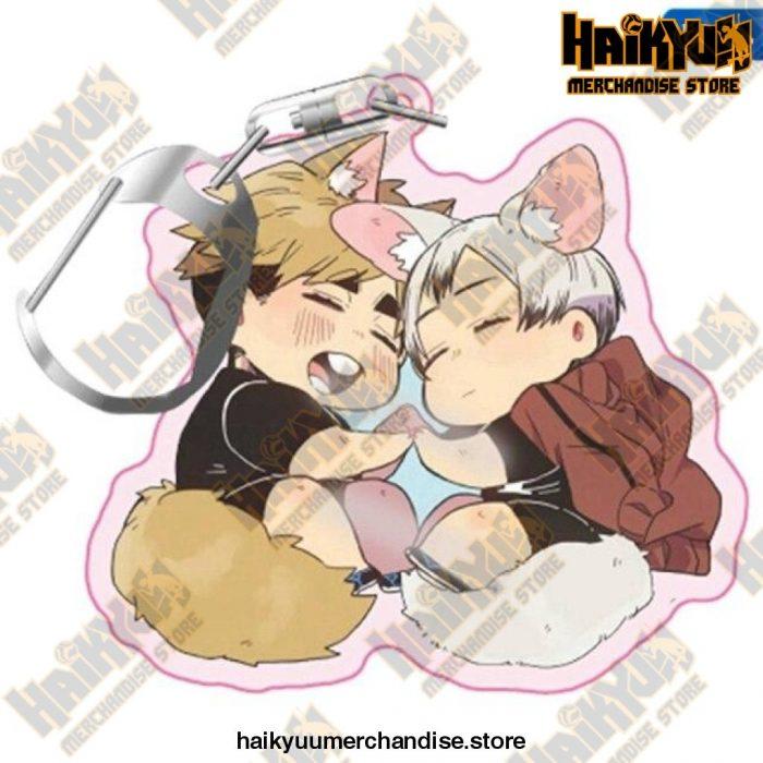 Haikyuu! Anime Acrylic Rubber Keychain H04