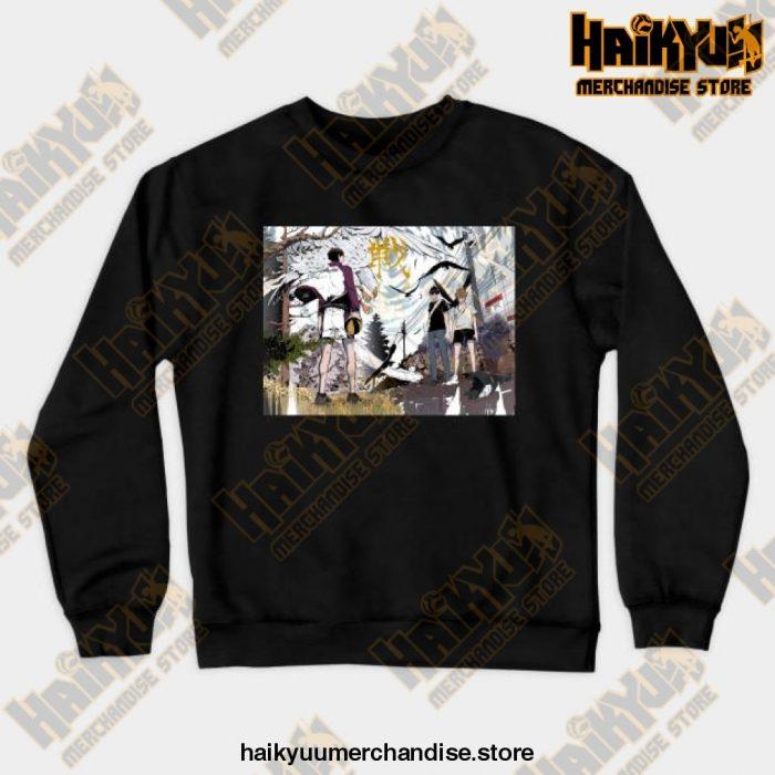Haikyuu Anime Sweatshirt Black / S