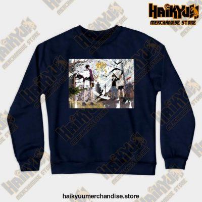 Haikyuu Anime Sweatshirt Navy Blue / S