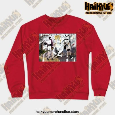 Haikyuu Anime Sweatshirt Red / S