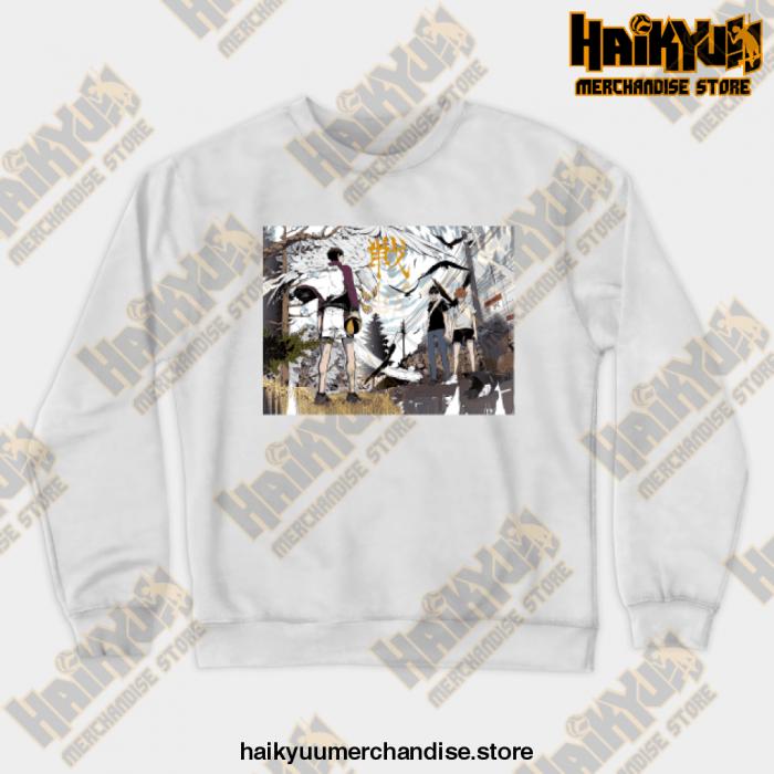 Haikyuu Anime Sweatshirt White / S