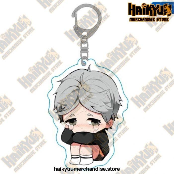 Haikyuu Anime Volleyball Boy Keychain H03