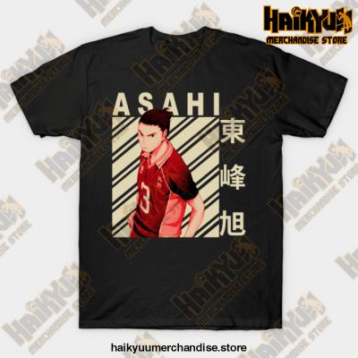Haikyuu Asahi Azumane T-Shirt Black / S