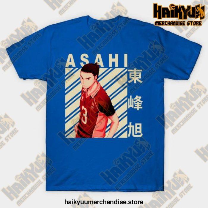 Haikyuu Asahi Azumane T-Shirt Blue / S