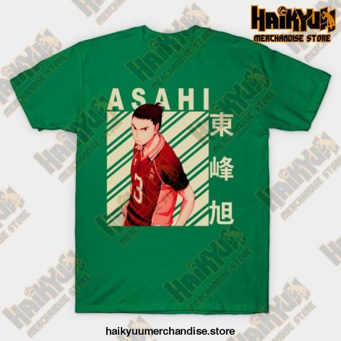 Haikyuu Asahi Azumane T-Shirt Green / S